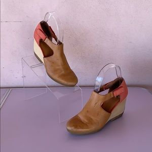 Camper Leather Strap Wedges - Euro Size 37